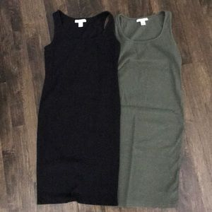 Motherhood ribbed dresses